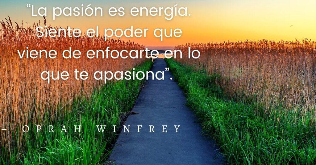 La pasión es energía